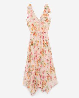 Sukienka z plisowaniem w kwiaty