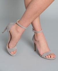 Sandały zamszowe na szpilce
