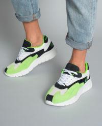 Sneakersy ze skóry z nadrukiem