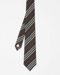 Krawat z jedwabiu w paski