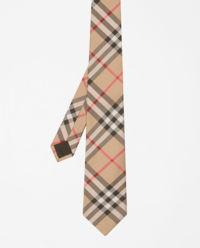 Krawat z jedwabiu w kratę