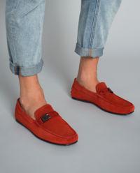 Loafery zamszowe Ferrari