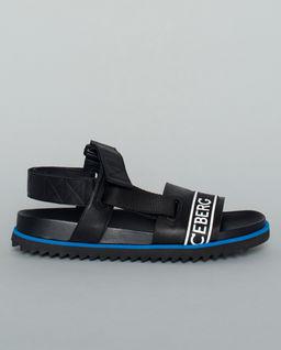 Sandały ze skóry z logotypem