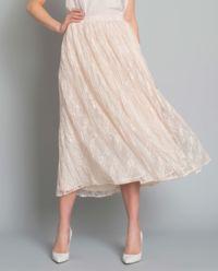 Spódnica jedwabna z plisowaniem