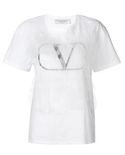 T-shirt z tiulowym zdobieniem