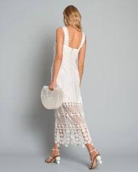 Sukienka z  szydełkową siatką