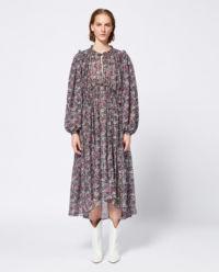 Sukienka z jedwabiu Paisley