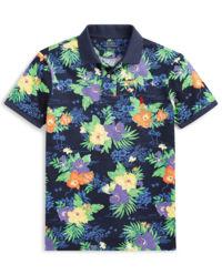 Koszulka polo z tropikalną grafiką