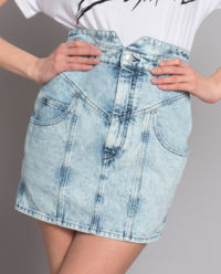 Spódnica jeansowa z wysokim stanem
