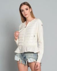 Bluza z baskinką biała