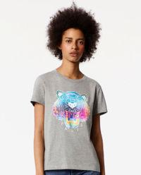 T-shirt Tiger Rainbow