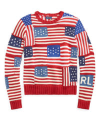 Sweter z flagami