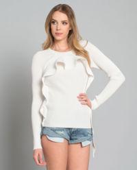 Sweter z asymetryczną falbanką