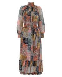 Sukienka z jedwabiu Ninety Six Smock