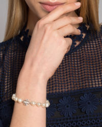 Perleťový náramek s logem