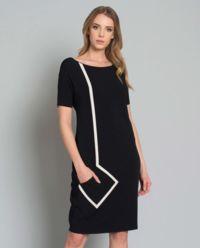 Sukienka z geometryczną linią