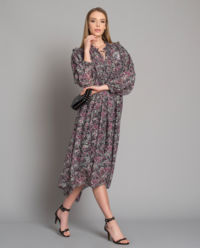 Hedvábné šaty Paisley