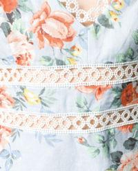 Sukienka w kwiaty z lnu