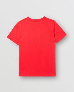 Czerwony t-shirt z logo 3-12 lat