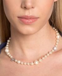 Perlový náhrdelník s  krystaly Swarovski
