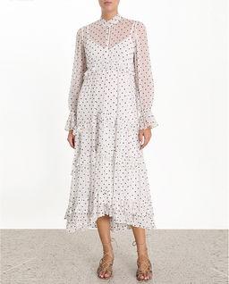 Sukienka z jedwabiu w kropki