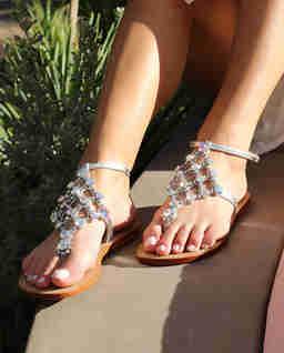 Sandały z kryształami Cabarete
