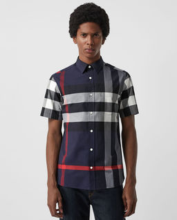 Koszula w kratę z krótkim rękawem