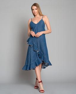 Džínové šaty s volánkem