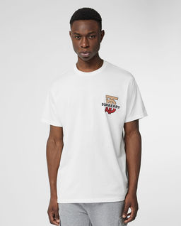 T-shirt z monogramem biały