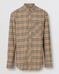 Koszula w kratę z monogramem