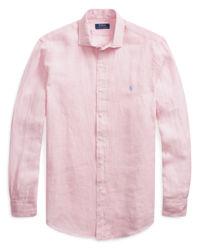 Koszula z lnu Classic Fit