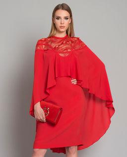Czerwona sukienka z jedwabiu