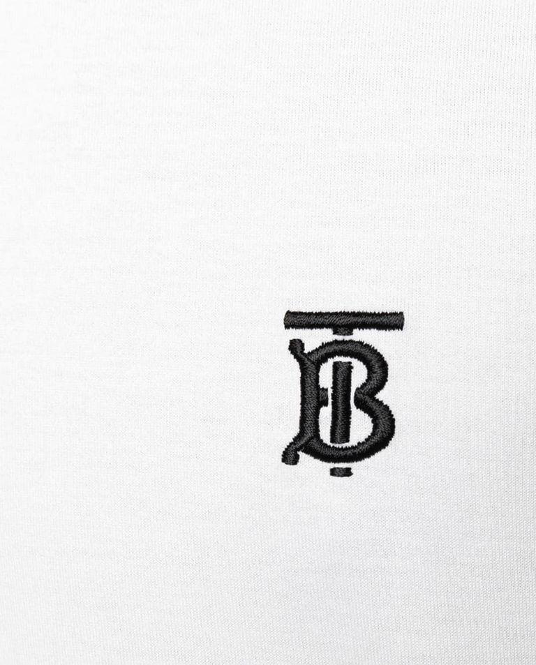 Biały t-shirt z haftowanym logo