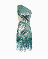 Sukienka z cekinami oraz frędzlami