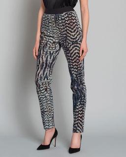 Spodnie z motywem piór