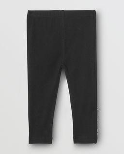 Czarne legginsy z logo 0-2 lata