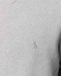 Sweter z długim rękawem szary