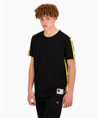 T-shirt z lampasami czarny