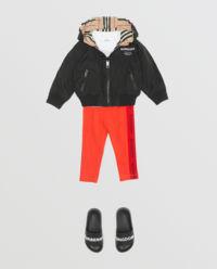 Czerwone legginsy z logo 0-2 lata