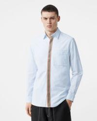 Koszula z kontrastowym paskiem