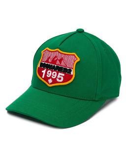 Zielona czapka z daszkiem