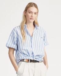 Pruhovaná košile s výšivkou