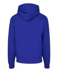 Bluza z kapturem niebieska