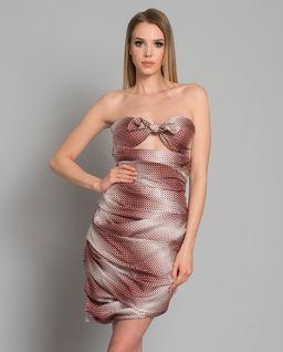 Hedvábné, kostkované šaty