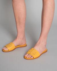 Kožené nazouváky Ines žluté