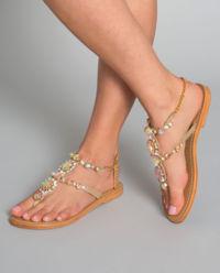 Sandały z kryształami