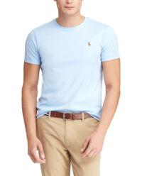 T-shirt Custom Slim Fit niebieski