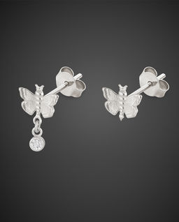 Srebrne Kolczyki Butterfly