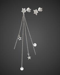 Srebrne Kolczyki Stars & Crystals