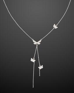 Srebrny Naszyjnik Butterfly Tie